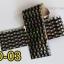 ฟอยล์ติดเล็บ ลายสีเงินดำ รหัส SD Nails foils เลือกสีด้านใน ขนาด 4X40 เซน thumbnail 4
