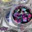 กากเพชรทรงกลมแบบบาง อย่างดี คละสี คละขนาด รหัส mt-001 thumbnail 8