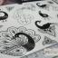 YM-K083 สติ๊กเกอร์สักแฟชั่น sticker tattoo ลายนกยุง โบ15.5x10.8 cm thumbnail 9