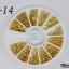 LO-14 โลหะ และหมุดทรงต่างๆ สีทอง กล่องกลม 1กล่อง มี12 แบบ thumbnail 1