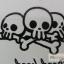 YM-K028 สติ๊กเกอร์สักแฟชั่น sticker tattoo ลายกระโหลก 15.5x10.8 cm thumbnail 7