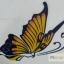 YM-K114 สติ๊กเกอร์สักแฟชั่น sticker tattoo ลายผีเสื้อ 15.5x10.8 cm thumbnail 7
