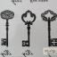 YM-K022 สติ๊กเกอร์สักแฟชั่น sticker tattoo ลายกุญแจ 15.5x10.8 cm thumbnail 4