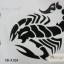 YM-X104 สติ๊กเกอร์ลายสัก tattoo ลายแมงป่อง18 x 7 cm thumbnail 2