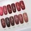 สีทาเล็บเจล EN.OU ยกเซ็ต 12ขวด สีโทนแดงอมชมพูน้ำตาล MARTHA RED thumbnail 2