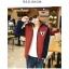 พร้อมส่ง-เสื้อแจคเกตผู้ชายสไตล์เกาหลี สีแดงเข้มน้ำเงิน ตัวหนา งานดี Size XL thumbnail 1