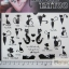 YM-K026 สติ๊กเกอร์สักแฟชั่น sticker tattoo ลายแมว15.5x10.8 cm thumbnail 3