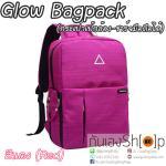 กระเป๋าเป้ใส่กล้อง สะพายหลัง รุ่น Glow Backpack ชาร์จแบตมือถือได้ สีแดง