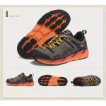 รองเท้าผ้าใบหนังแท้ ยี่ห้อ Merrto รุ่น 8619 สีเทา/ส้ม เบอร์ EUR 39 ( ยาว 245 มม. )