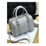 ***พร้อมส่ง*** กระเป๋าหนังแฟชั่นสตรี รหัส BV-0863 (B6-043) สีเทา สไตล์เกาหลี สำหรับ สุภาพสตรีทันสมัย ราคาไม่แพง