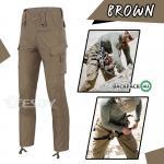 กางเกงขายาวยุทธวิธี Taro สีน้ำตาล(Brown) ไซส์ S