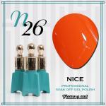 สีเจล NICE รหัส N-26