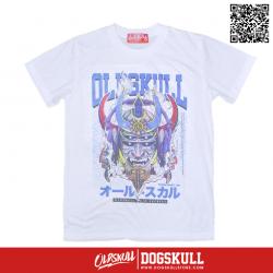 เสื้อยืด OLDSKULL : EXPRESS GUNDAM   สีขาว