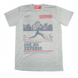 เสื้อยืด OLDSKULL : EXPRESS HD #37   เทาท็อปดราย