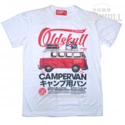 เสื้อยืด OLDSKULL : EXPRESS HD #70  ขาว