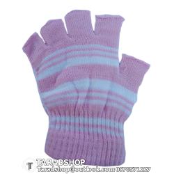 ถุงมือกันลื่น เต็มนิ้ว (ชมพูผสมขาว)