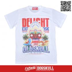 เสื้อยืด OLDSKULL : EXPRESS TROPICAL MUG   สีขาว
