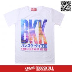 เสื้อยืด OLDSKULL : KRUNGTHEP   WHITE