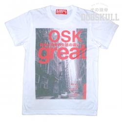 เสื้อยืด OLDSKULL : EXPRESS HD #38   สีขาว