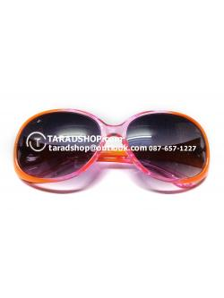 แว่นกันแดด ( สีเลนส์ น้ำตาลเข้ม) สีกรอบ เหลืองผสมสีสมพูอ่อน )
