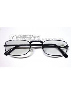 แว่นสายตา ยาว +1.50D ( สีเลนส์ กระจกใส ) สีกรอบ สีดำ ) ขา สแตนเลส )