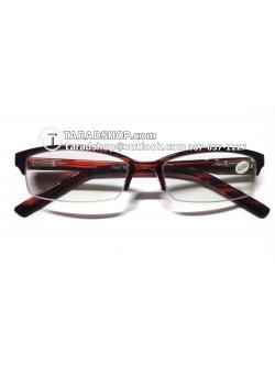 แว่นสายตา ยาว +2.00D ( สีเลนส์ กระจกใส ) สีกรอบ สีดำผสมแดง ) ขา พลาสติก )