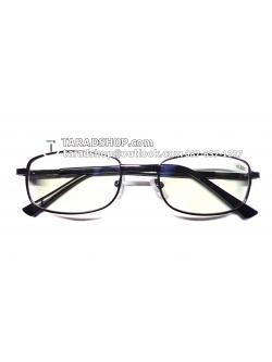 แว่นสายตา ยาว +0.50D ( สีเลนส์ กระจกใส ) สีกรอบ ดำ ) ขา สแตนเลส )
