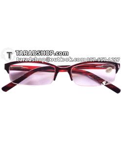แว่นสายตา สตรี-บุรุษ (สีดำผสมแดงน้ำตาล)