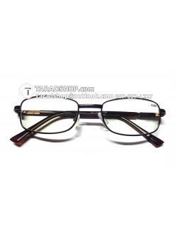แว่นสายตา ยาว +2.00D ( สีเลนส์ กระจกใส ) สีกรอบ เทาเข้ม) ขา สแตนเลส