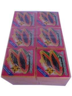 สบู่สมุนไพร มะละกอผสมน้ำผึ้ง (แพ็ค)