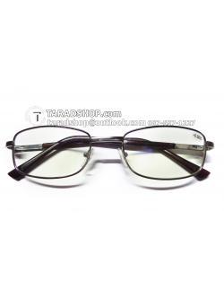 แว่นสายตา ยาว +0.50D ( สีเลนส์ กระจกใส ) สีกรอบ ขาว) ขา สแตนเลส