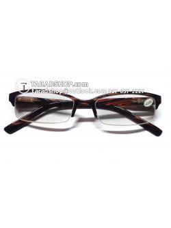 แว่นสายตา ยาว +1.75D ( สีเลนส์ กระจกใส ) สีกรอบ สีดำผสมน้ำตาลแดง ) ขา พลาสติก )