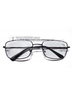 แว่นสายตา ยาว +1.25D ( สีเลนส์ กระจกใส ) สีกรอบ สีดำ ) ขา สแตนเลส )