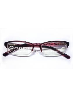 แว่นสายตา ยาว +1.00D ( สีเลนส์ ขาวอ่อน) สีกรอบ แดงผสมดำ )