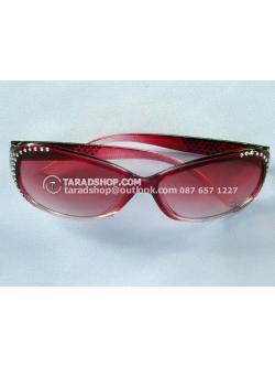 แว่นกันแดด สีผสม (แดง+ดำ)