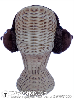 สะเปาหู กันหนาว สีน้ำตาลผสมขาวดำ (ผู้หญิง)