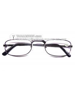 แว่นสายตา ยาว +1.75D ( สีเลนส์ กระจกใส ) สีกรอบ ขาวผสมดำ ) ขา สแตนเลส )