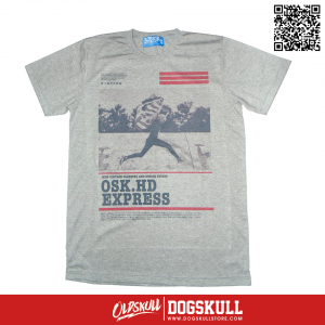 เสื้อยืด OLDSKULL : EXPRESS HD #37| เทาท็อปดราย