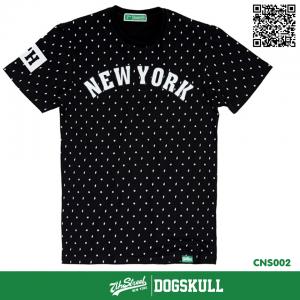 เสื้อยืด 7TH STREET - รุ่น New York พิมพ์ลาย   Black