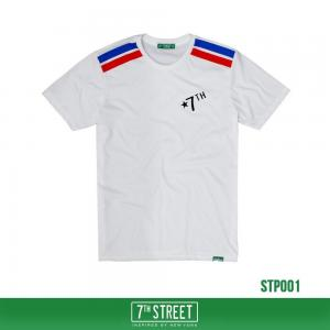 เสื้อยืด 7TH STREET - รุ่น TWO STRIPE   White