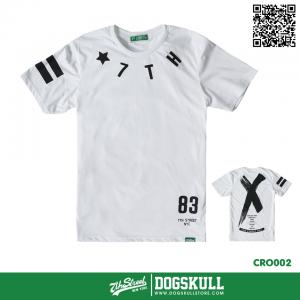 เสื้อยืด 7TH STREET - รุ่น Cross Back   White