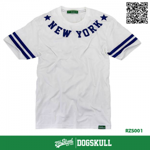 เสื้อยืด 7TH STREET - รุ่น NEW YORK STAR   WHITE-BLUE