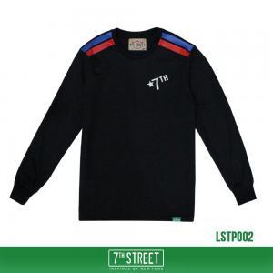เสื้อยืดแขนยาว 7TH STREET - รุ่น TWO STRIPE | BLACK