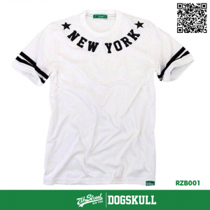 เสื้อยืด 7TH STREET - รุ่น NEW YORK STAR   WHITE-BLACK