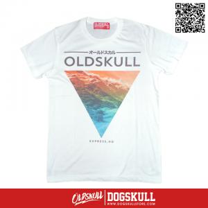 เสื้อยืด OLDSKULL : EXPRESS HD #36 | White