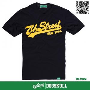 เสื้อยืด 7TH STREET - รุ่น 7TH Street   Black