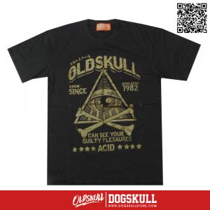 เสื้อยืด OLDSKULL: ULTIMATE ACID | LIGHT BLACK