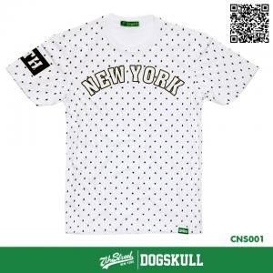 เสื้อยืด 7TH STREET - รุ่น New York พิมพ์ลาย   White
