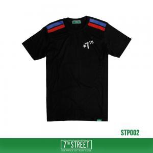 เสื้อยืด 7TH STREET - รุ่น TWO STRIPE  BLACK