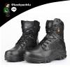 รองเท้าหนัง DELTA ข้อยาว (สีดำ) เบอร์ EUR 39 เทียบ US 6.5 (245 มม.)